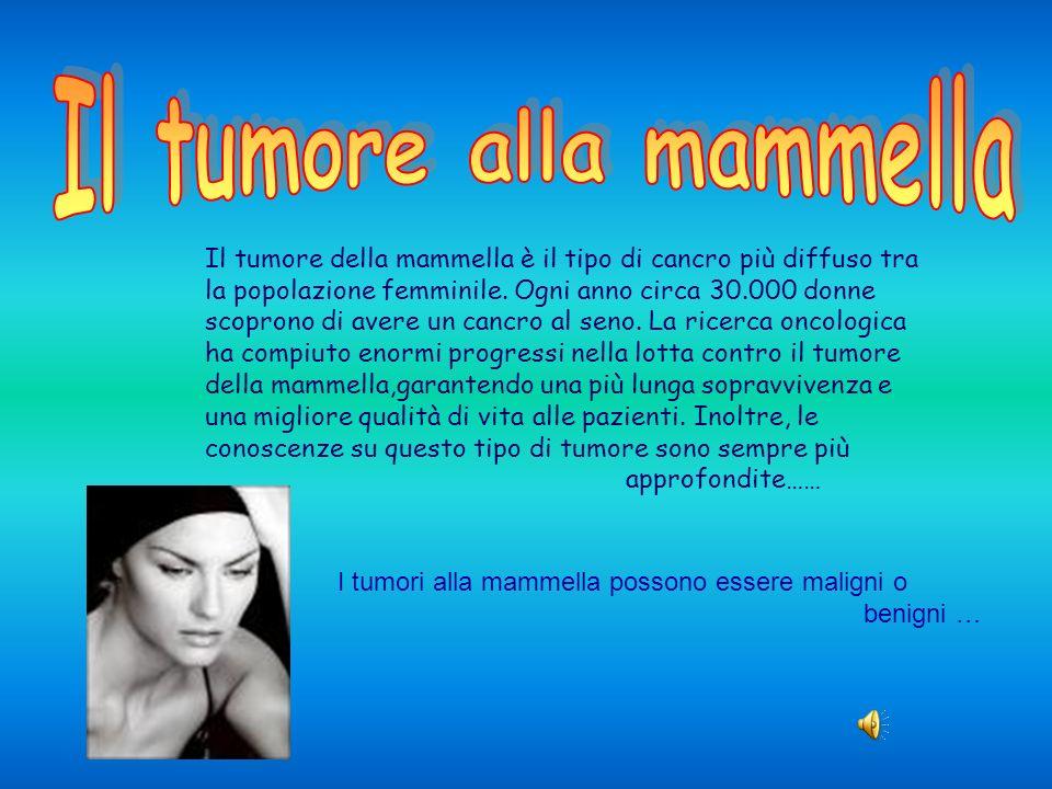 -I tumori benigni sono formati dalle cellule che non invadono i tessuti circostanti e non si diffondono ad altri parti dellorganismo.