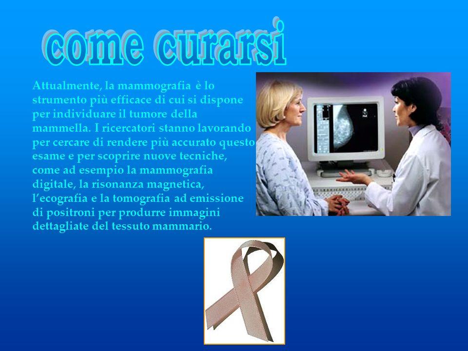 Attualmente, la mammografia è lo strumento più efficace di cui si dispone per individuare il tumore della mammella. I ricercatori stanno lavorando per