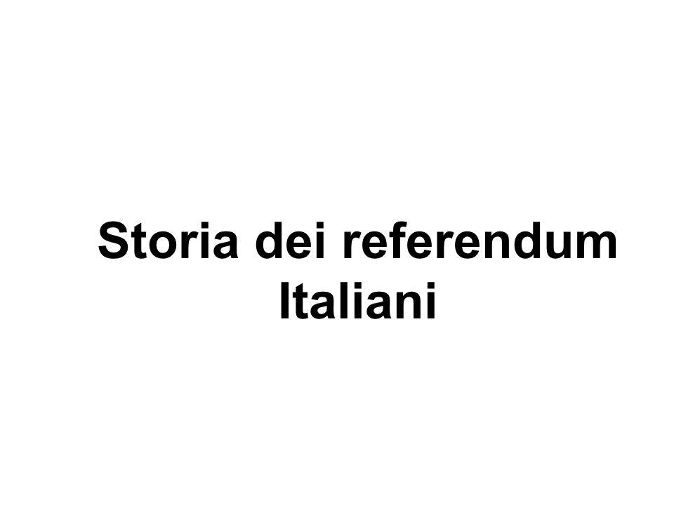 Storia dei referendum Italiani