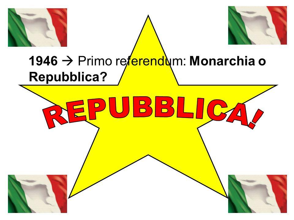 1946 Primo referendum: Monarchia o Repubblica?