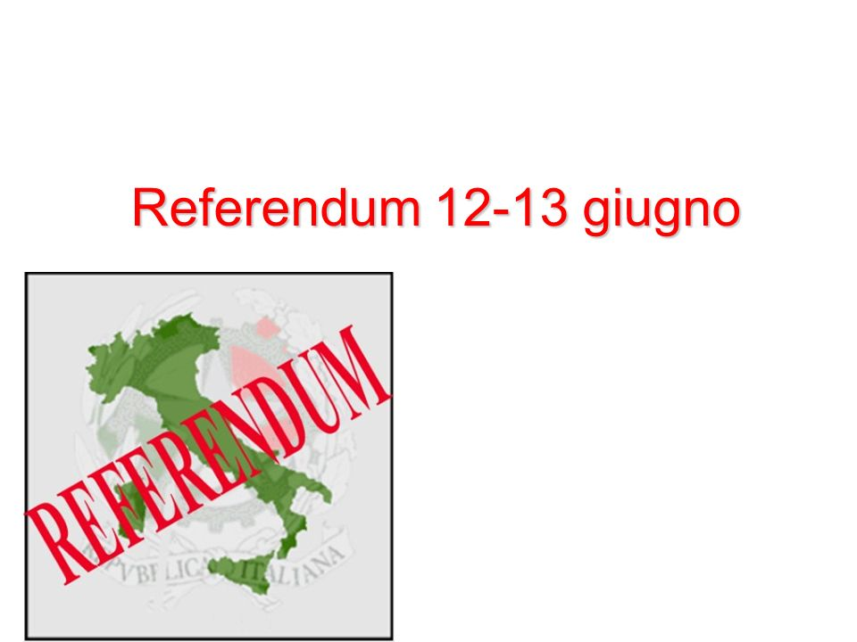 Referendum 12-13 giugno