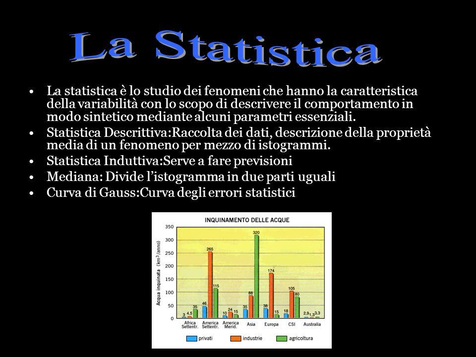 La statistica è lo studio dei fenomeni che hanno la caratteristica della variabilità con lo scopo di descrivere il comportamento in modo sintetico med