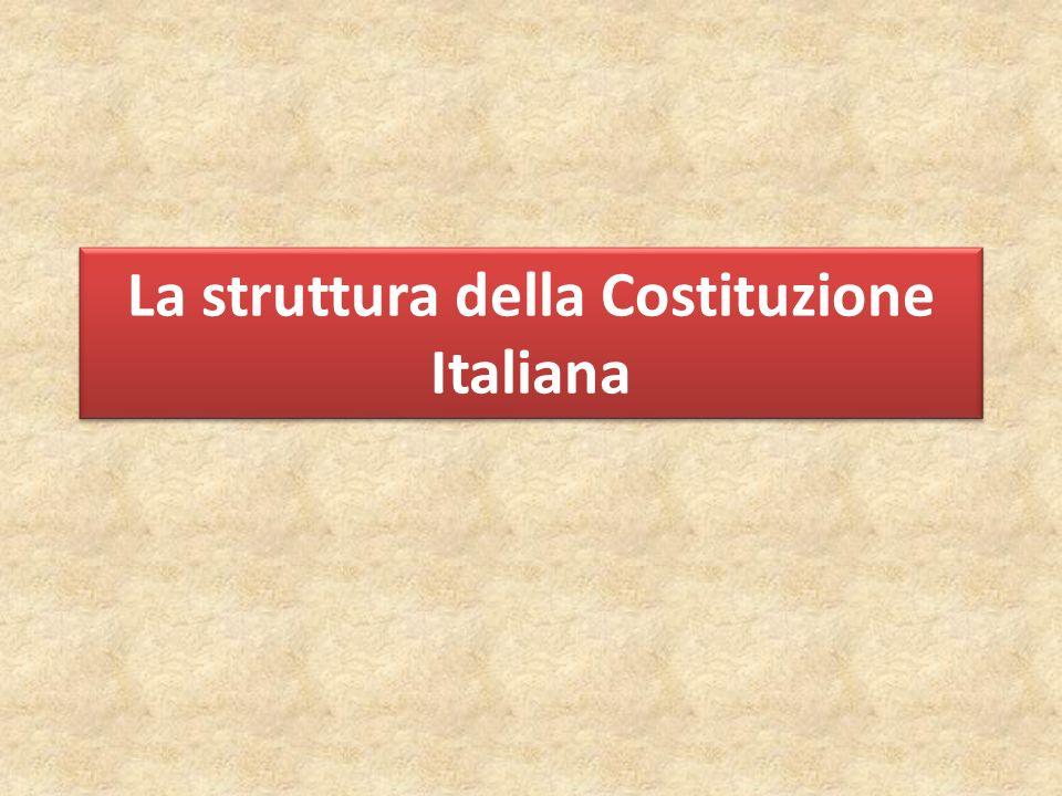 PRINCIPI FONDAMENTALI (artt. 1-12) Principi alla base della struttura dello Stato e della società
