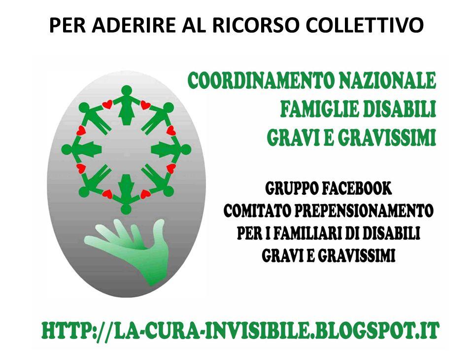 PER ADERIRE AL RICORSO COLLETTIVO