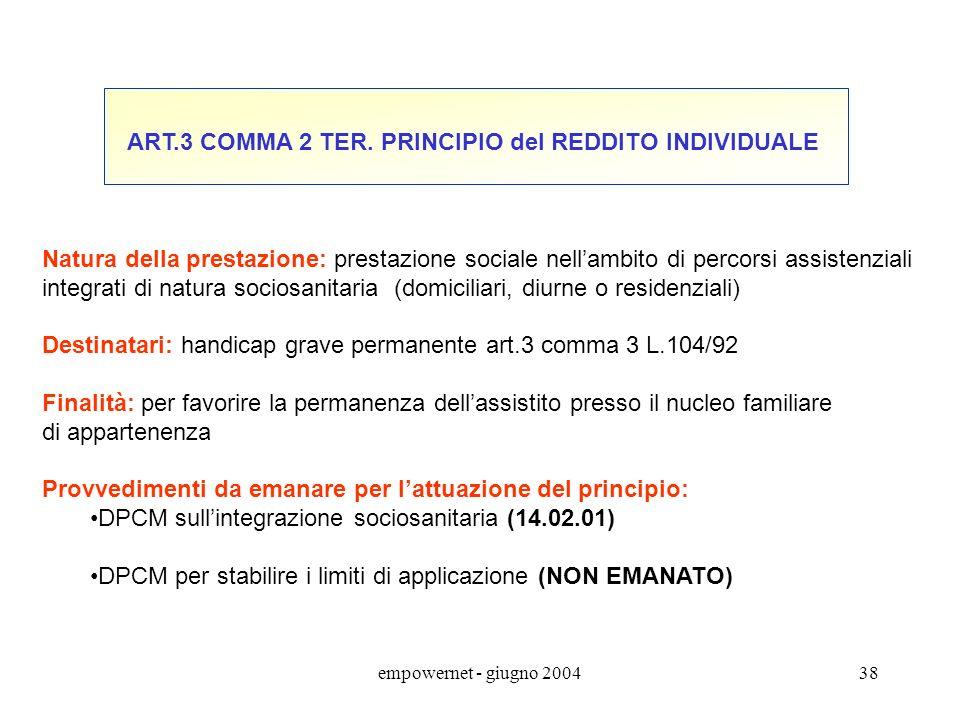 empowernet - giugno 200437 D.Lgs.13 maggio 2000 n.130 Art. 2 comma 6 le disposizioni del presente decreto non modificano la disciplina relativa ai sog