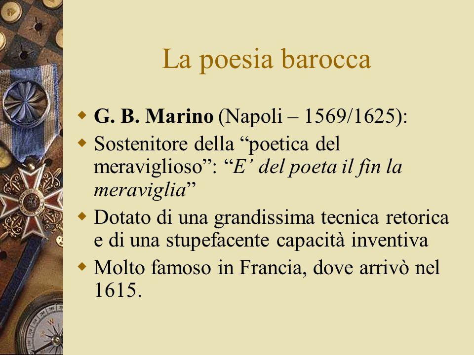 La poesia barocca G.B.
