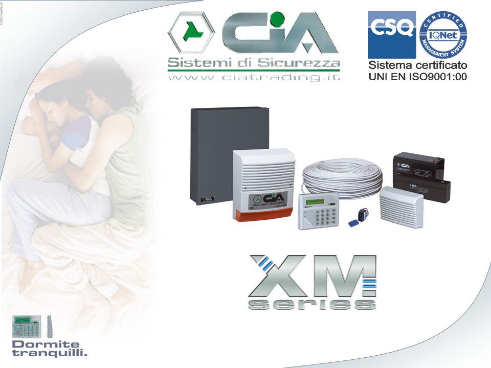 Caratteristiche Esempi di applicazione Impianto 1 GARAGE Impianto 2 CASA Impianti Le centrali XM possono gestire fino a 4 Impianti.