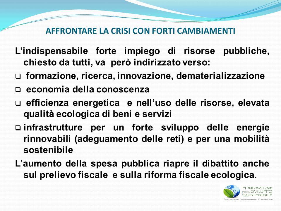 Lindispensabile forte impiego di risorse pubbliche, chiesto da tutti, va però indirizzato verso: formazione, ricerca, innovazione, dematerializzazione