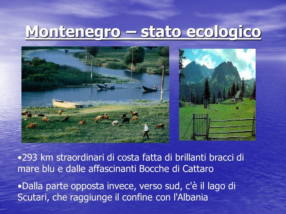 Montenegro – stato ecologico 293 km straordinari di costa fatta di brillanti bracci di mare blu e dalle affascinanti Bocche di Cattaro Dalla parte opp