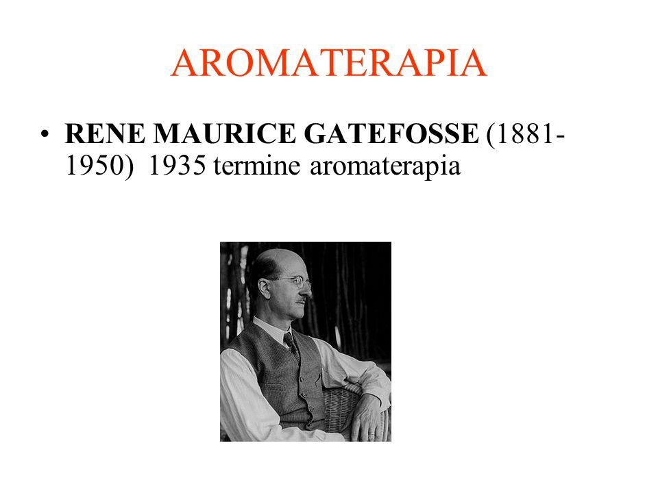 AROMATERAPIA RENE MAURICE GATEFOSSE (1881- 1950) 1935 termine aromaterapia