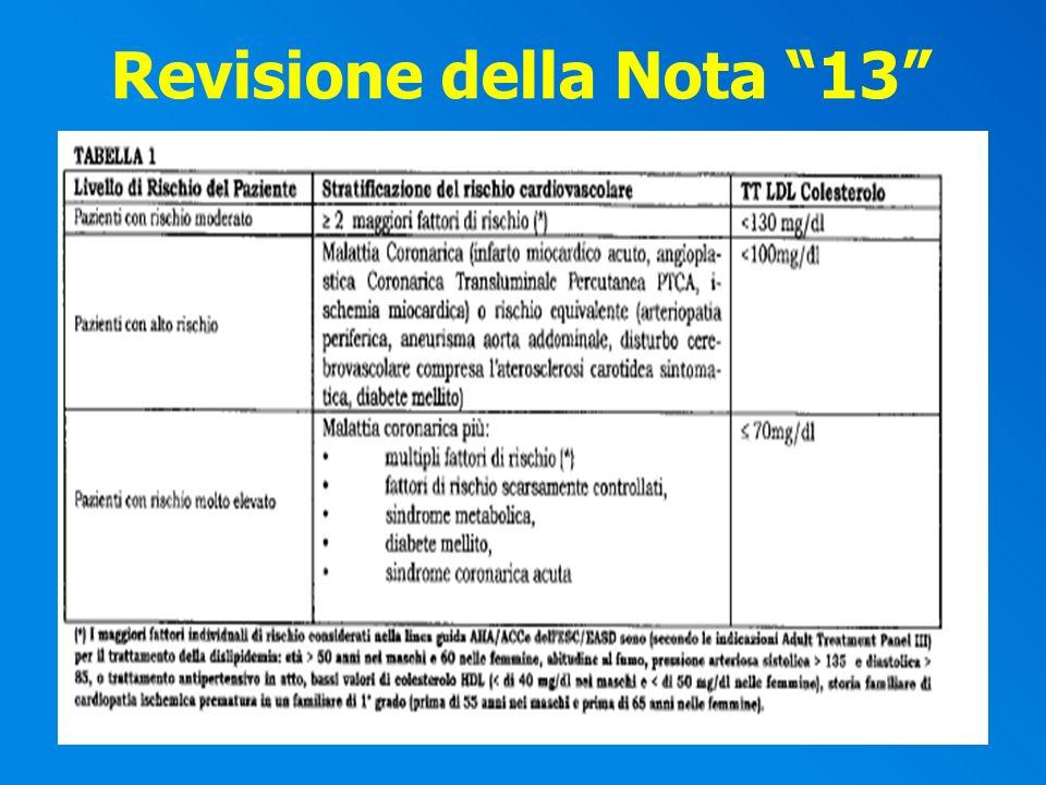 Revisione della Nota 13