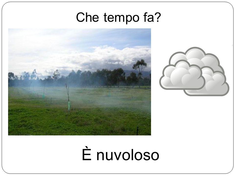Che tempo fa? È nuvoloso