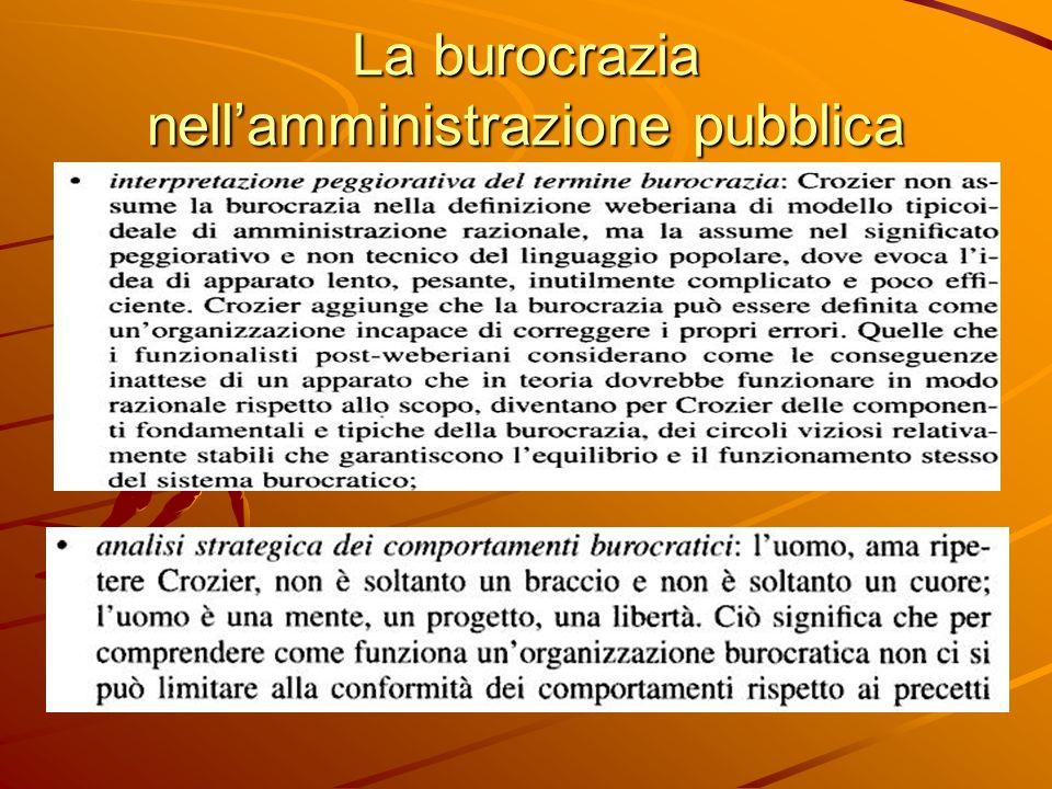 La burocrazia nellamministrazione pubblica