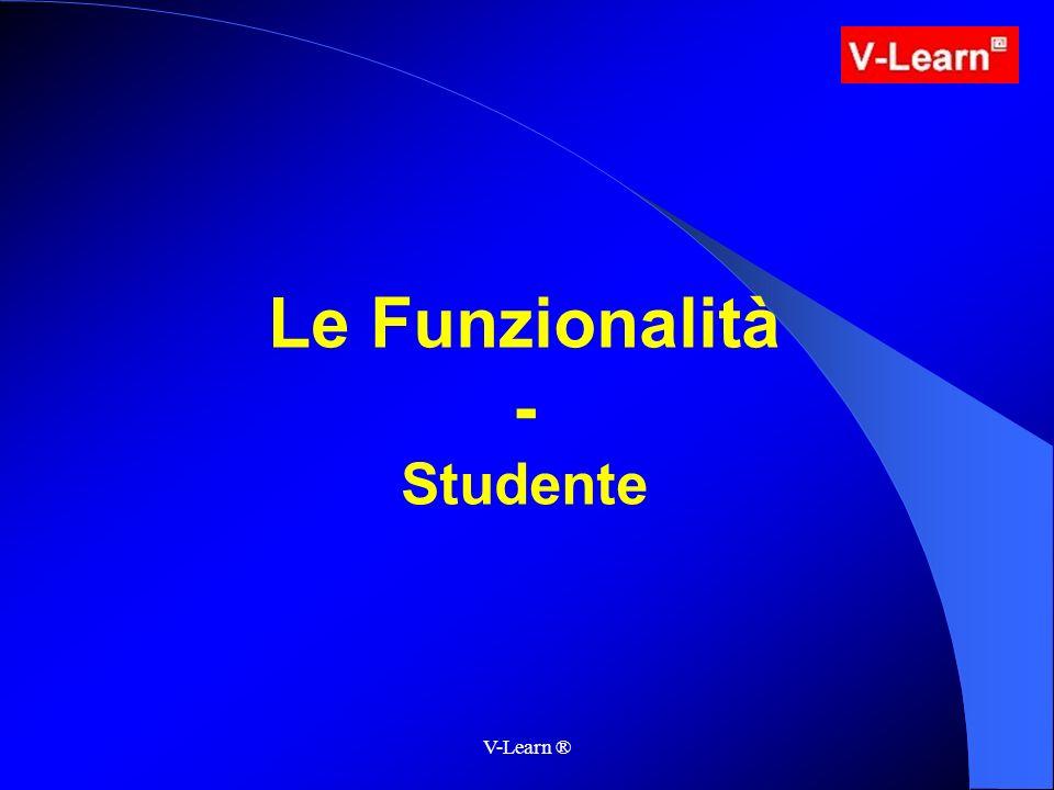 V-Learn ® Le Funzionalità - Studente