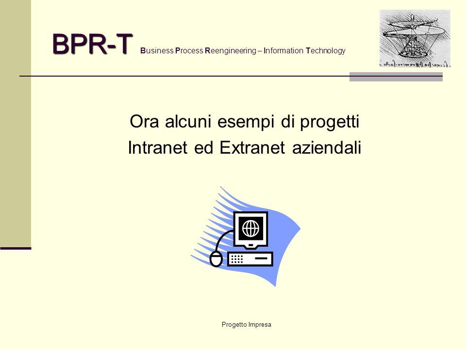 Progetto Impresa BPR-T BPR-T Business Process Reengineering – Information Technology … ed ecco nascere … COMITATO TECNICO Referente Aziendale Cliente