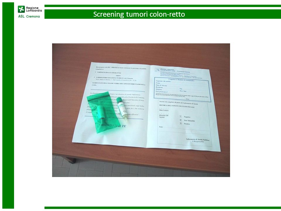 Screening tumori colon-retto