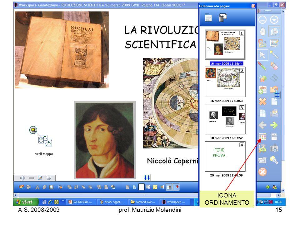 A.S. 2008-2009prof. Maurizio Molendini15 ICONA ORDINAMENTO