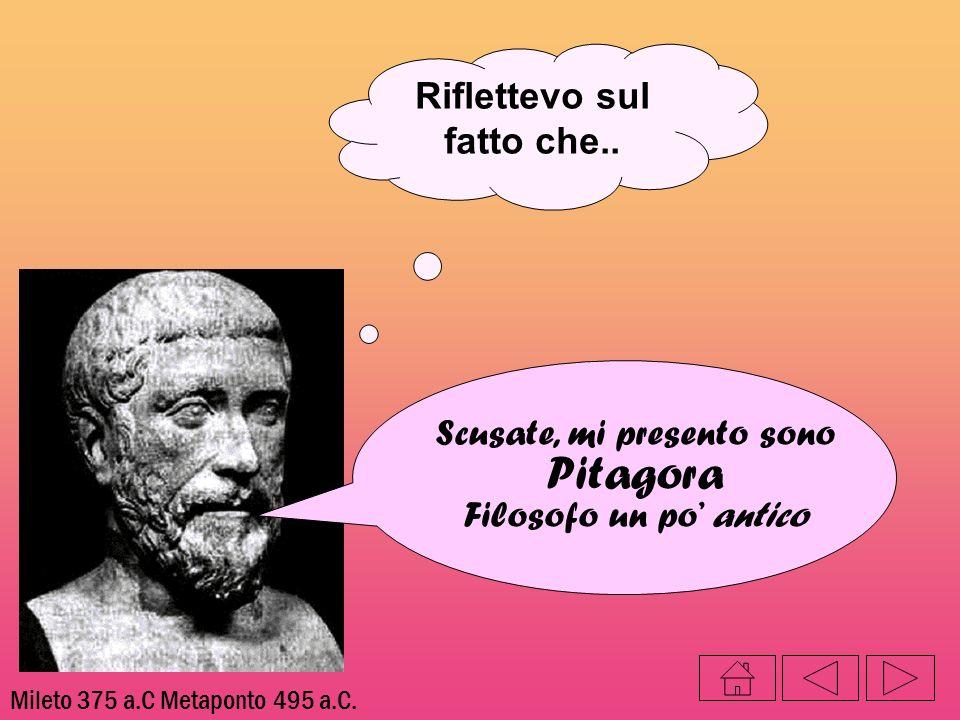 Riflettevo sul fatto che.. Mileto 375 a.C Metaponto 495 a.C. Scusate, mi presento sono Pitagora Filosofo un po antico