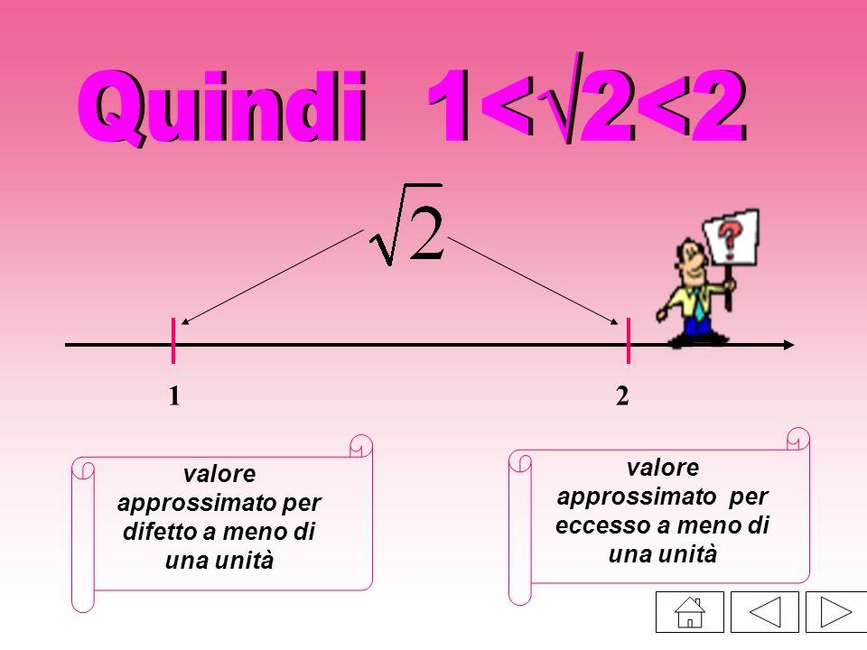 12 valore approssimato per difetto a meno di una unità valore approssimato per eccesso a meno di una unità