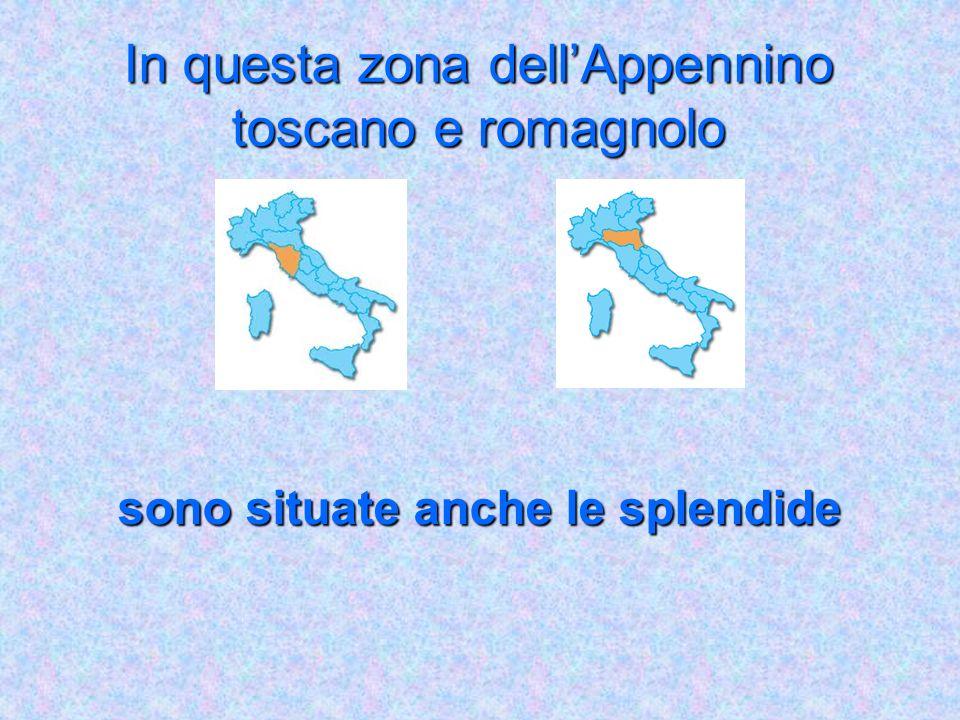 Ricordiamo bene : i calanchi si trovano in Toscana ed Emilia Romagna