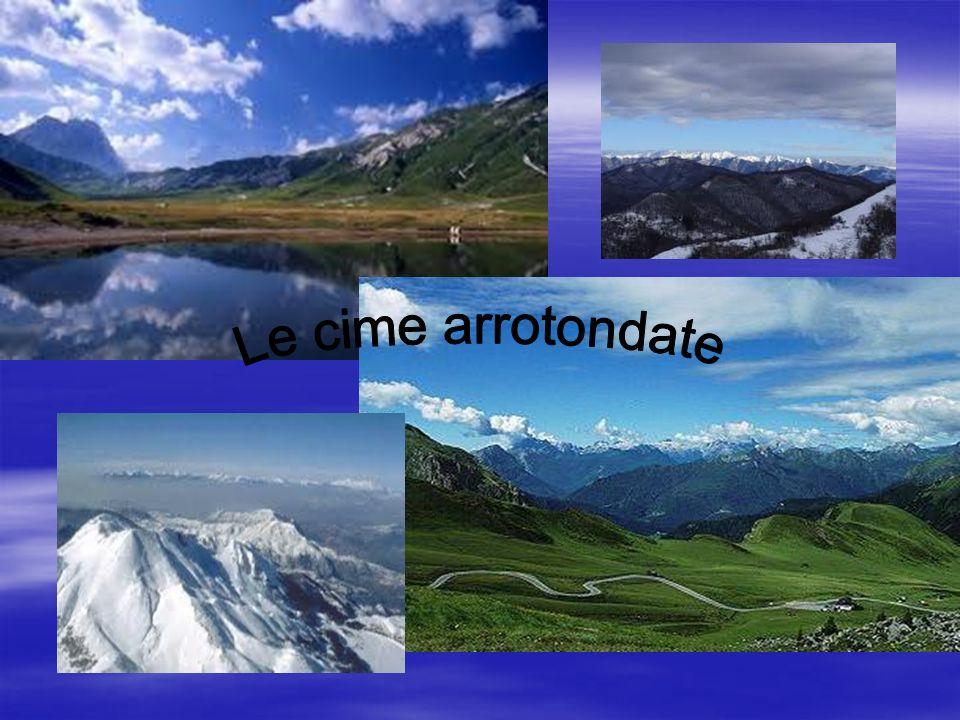 Alpi Apuane Potete notare come le cime delle Alpi a aa abbiano delle cime appuntite, mentre gli Appennini si caratterizzano per