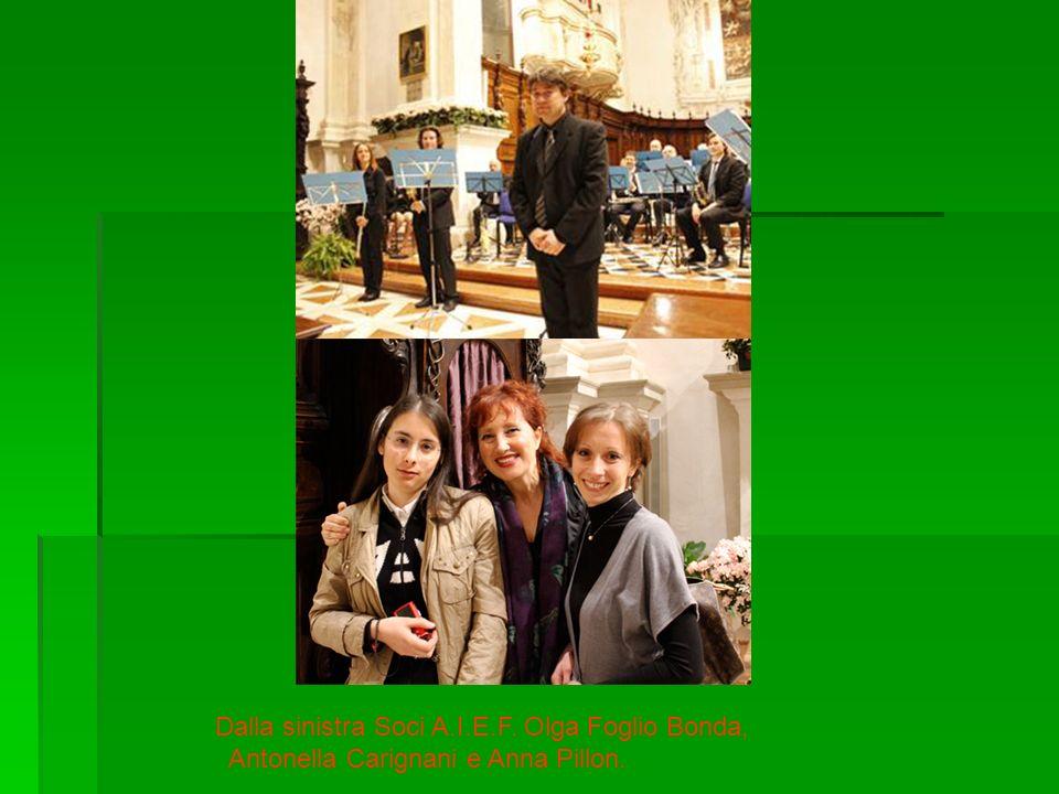 Dalla sinistra Soci A.I.E.F. Olga Foglio Bonda, Antonella Carignani e Anna Pillon.