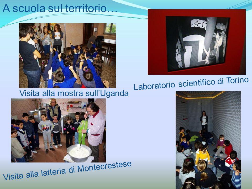 A scuola sul territorio… Visita alla mostra sullUganda Visita alla latteria di Montecrestese Laboratorio scientifico di Torino