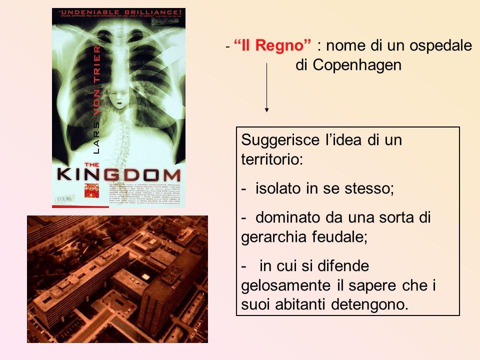 - Il Regno : nome di un ospedale di Copenhagen Suggerisce lidea di un territorio: - isolato in se stesso; - dominato da una sorta di gerarchia feudale