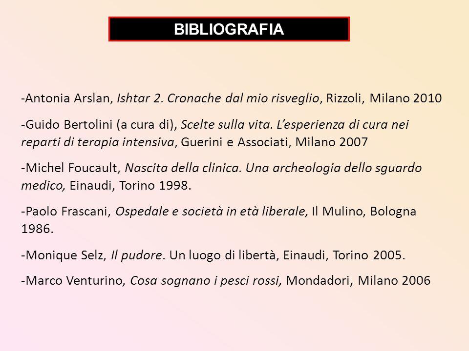 - Antonia Arslan, Ishtar 2. Cronache dal mio risveglio, Rizzoli, Milano 2010 -Guido Bertolini (a cura di), Scelte sulla vita. Lesperienza di cura nei