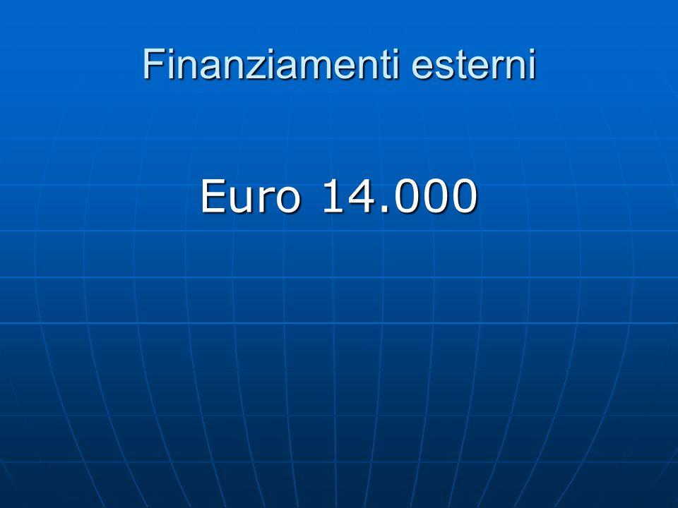 Finanziamenti esterni Euro 14.000