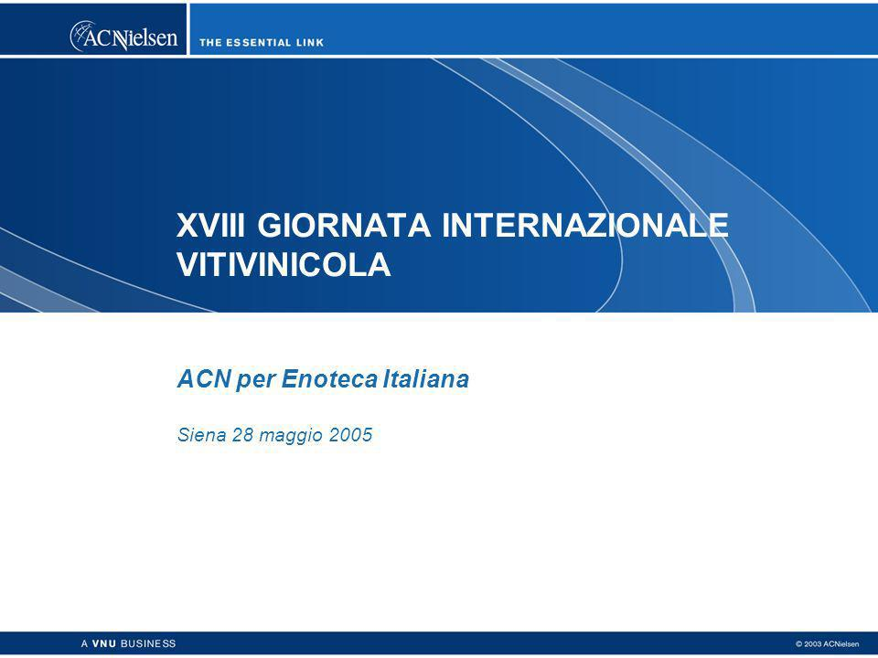 XVIII GIORNATA INTERNAZIONALE VITIVINICOLA ACN per Enoteca Italiana Siena 28 maggio 2005