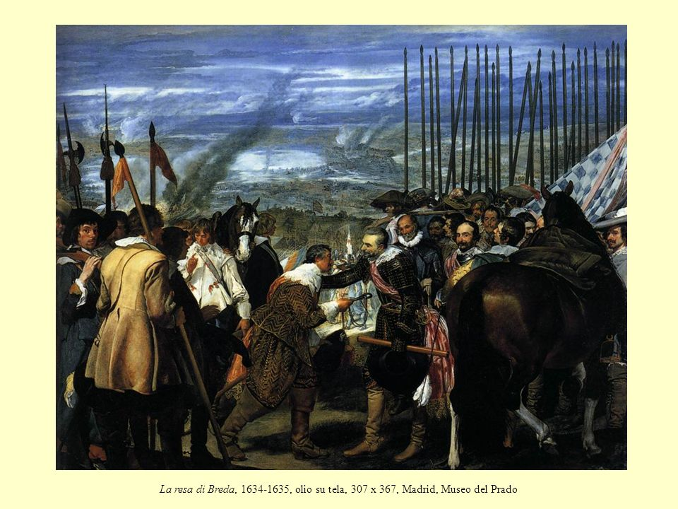La resa di Breda, 1634-1635, olio su tela, 307 x 367, Madrid, Museo del Prado