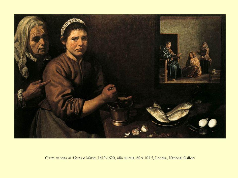 Cristo in casa di Marta e Maria, 1619-1620, olio su tela, 60 x 103.5, Londra, National Gallery