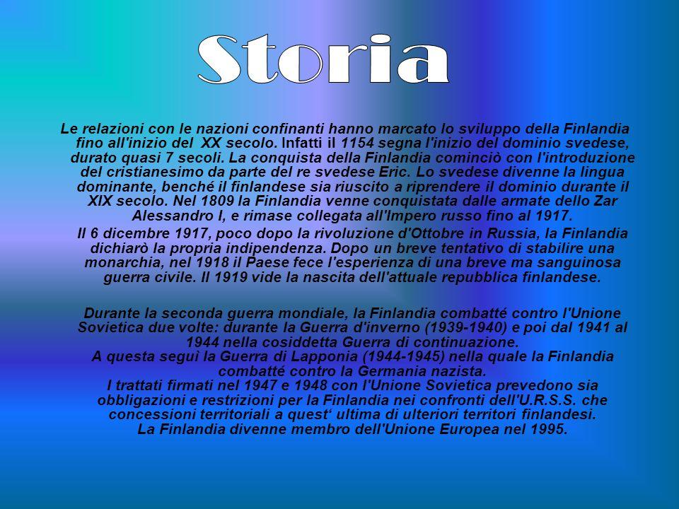 Le relazioni con le nazioni confinanti hanno marcato lo sviluppo della Finlandia fino all'inizio del XX secolo. Infatti il 1154 segna l'inizio del dom