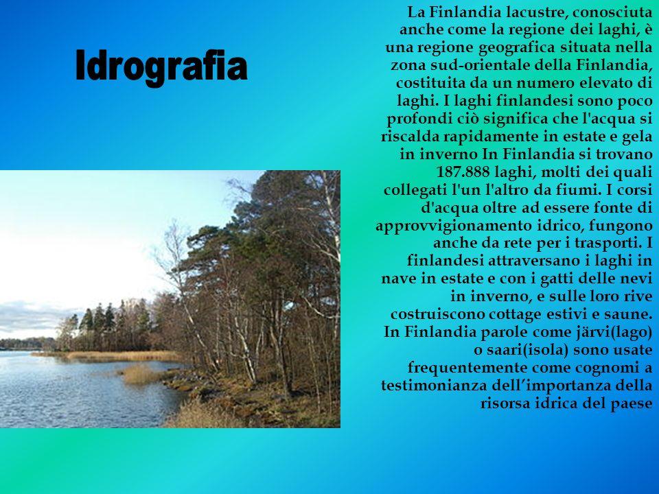 La Finlandia lacustre, conosciuta anche come la regione dei laghi, è una regione geografica situata nella zona sud-orientale della Finlandia, costitui