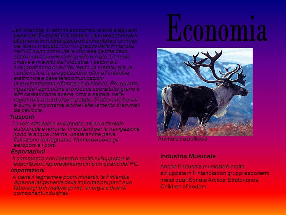 La Finlandia, in termini economici, è simile agli altri paesi dell'Europa Occidentale. La sua economia è altamente industrializzata ed è orientata ai