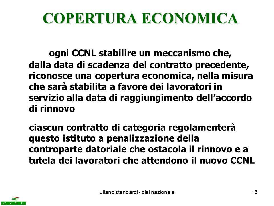 uliano stendardi - cisl nazionale15 ogni CCNL stabilire un meccanismo che, dalla data di scadenza del contratto precedente, riconosce una copertura ec
