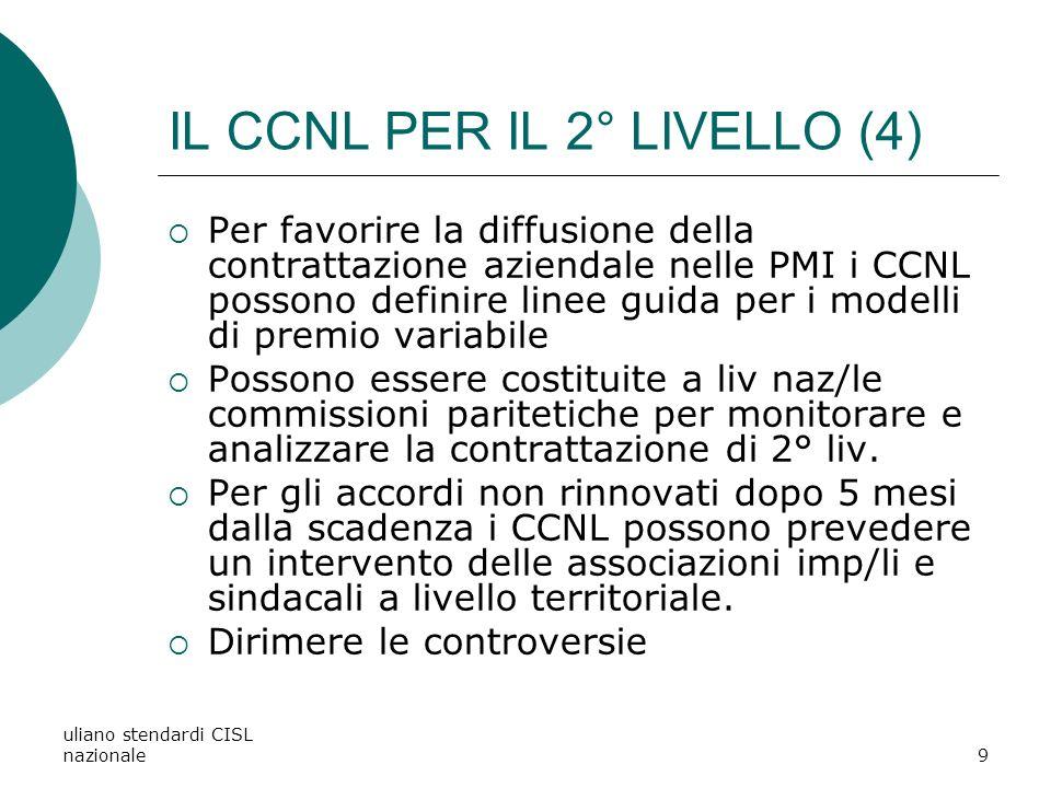 uliano stendardi CISL nazionale20 LE MATERIE DEL 2° LIVELLO (8) SALARIO.