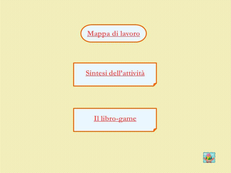 Mappa di lavoro Sintesi dellattività Il libro-game