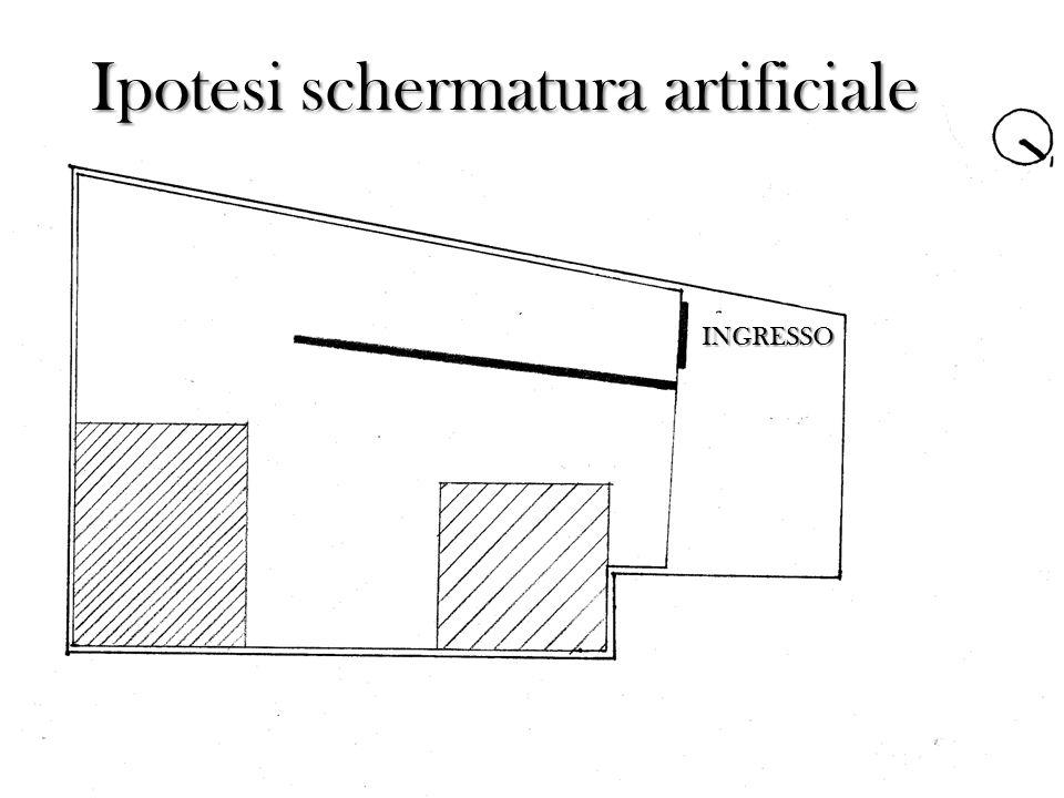 Ipotesi schermatura artificiale INGRESSO