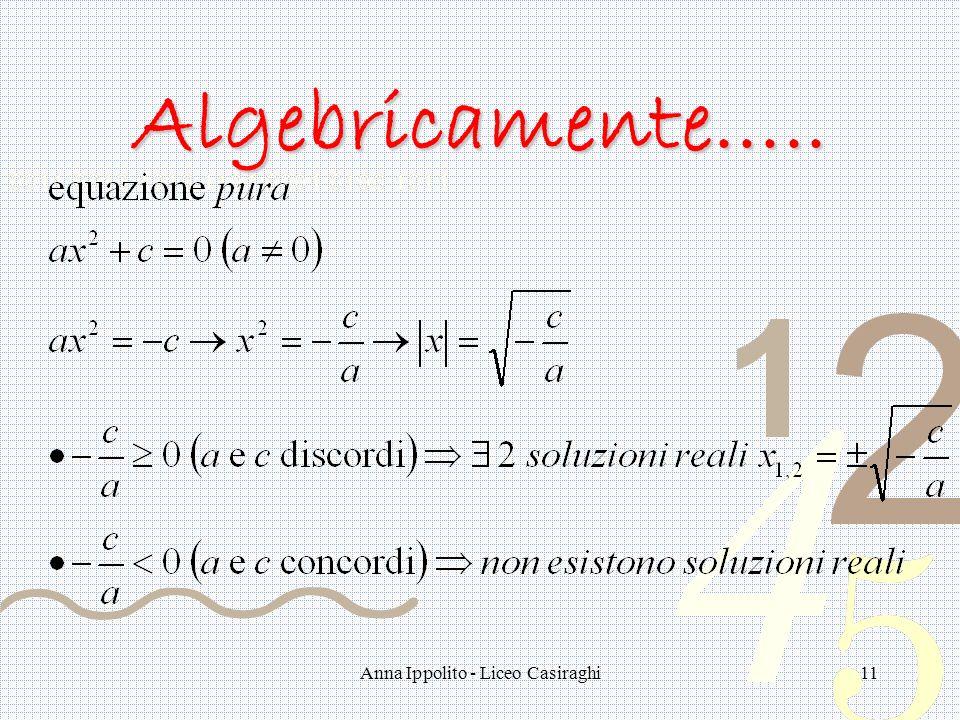 Anna Ippolito - Liceo Casiraghi11 Algebricamente…..