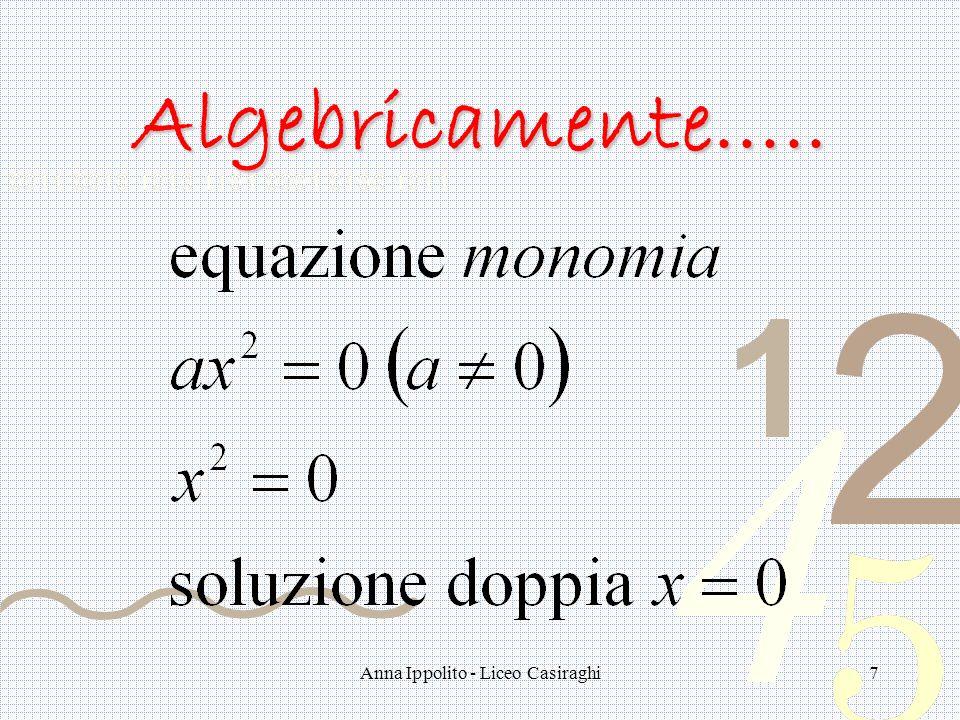 Anna Ippolito - Liceo Casiraghi7 Algebricamente…..