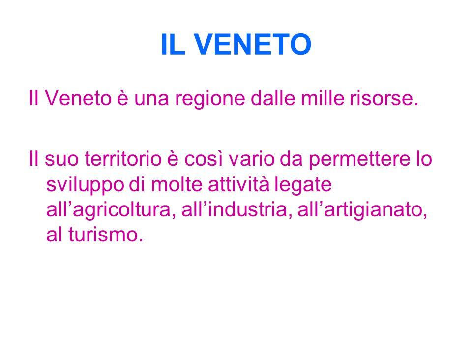 IL VENETO Il Veneto è una regione dalle mille risorse.