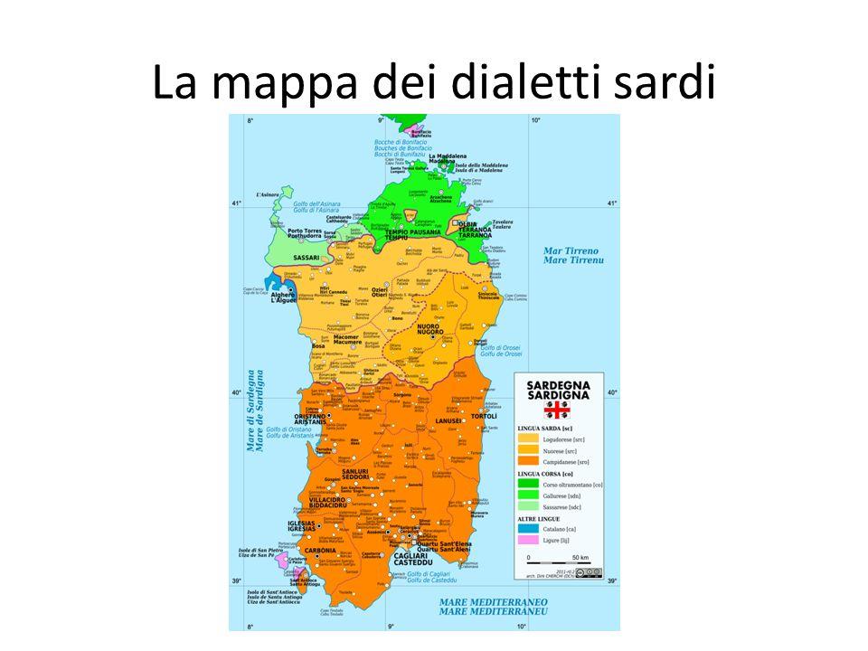 La mappa dei dialetti sardi