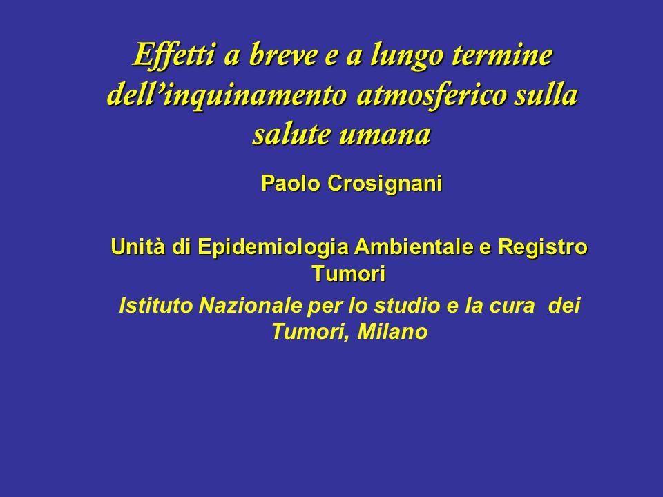 Inquinamento atmosferico: Quanti tumori al polmone a Milano.