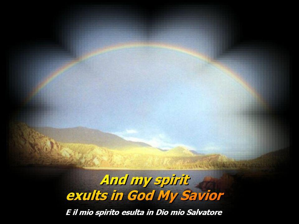 La mia anima proclama la grandezza del Signore