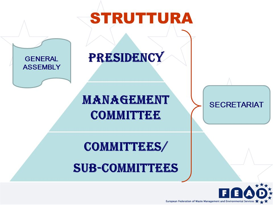 7 STRUTTURA PRESIDENCY MANAGEMENT COMMITTEE COMMITTEES/ SUB-COMMITTEES SECRETARIAT GENERAL ASSEMBLY