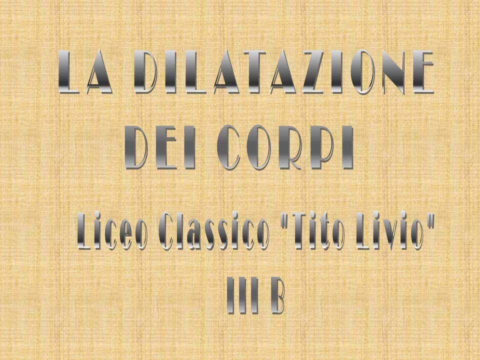 Il dilatometro disegnato dagli alunni della classe III B del Liceo Classico Tito Livio