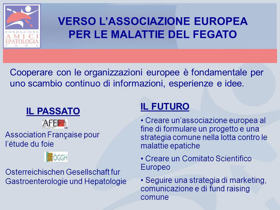 Cooperare con le organizzazioni europee è fondamentale per uno scambio continuo di informazioni, esperienze e idee. VERSO LASSOCIAZIONE EUROPEA PER LE