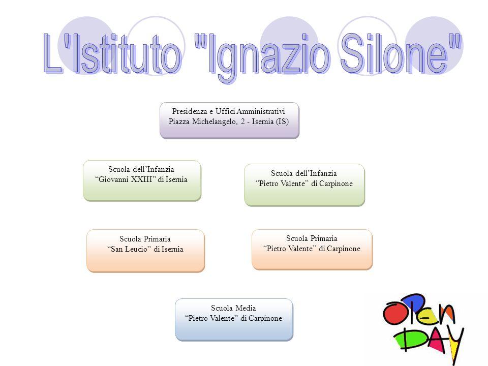 Presidenza e Uffici Amministrativi Piazza Michelangelo, 2 - Isernia (IS) Scuola dellInfanzia Giovanni XXIII di Isernia Scuola dellInfanzia Pietro Vale